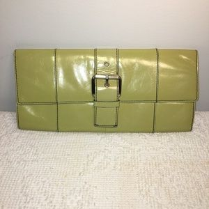 Kenneth Cole New York Leather Clutch w/Buckle